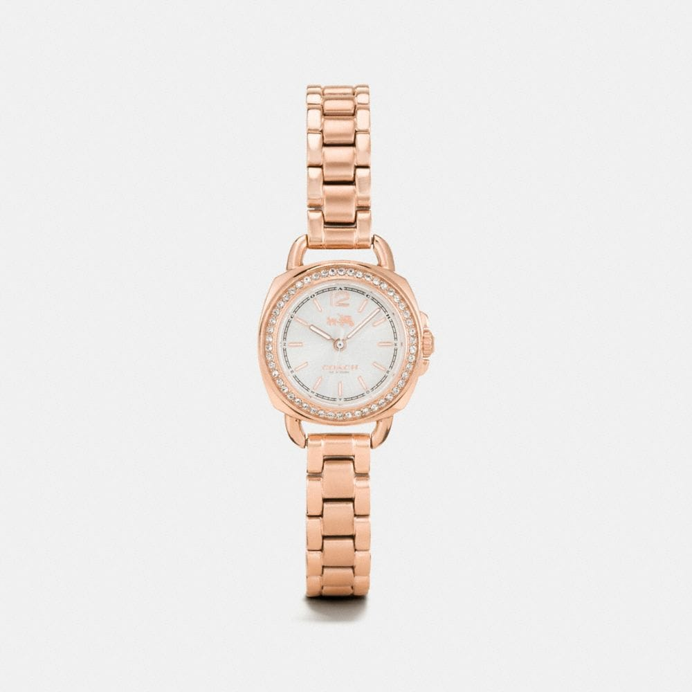 TATUM ROSE GOLD TONE SUNRAY DIAL SET BRACELET WATCH