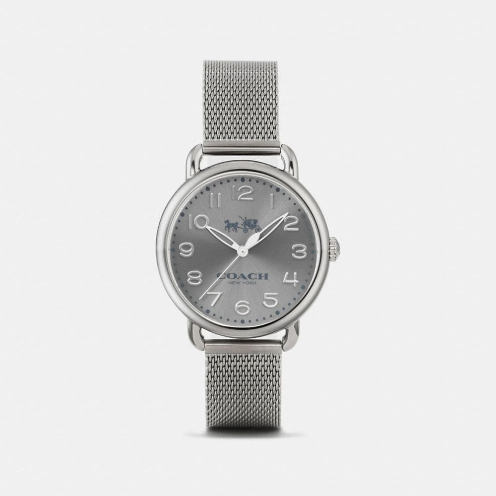 Coach Delancey Ionized Plated Sunray Dial Mesh Bracelet