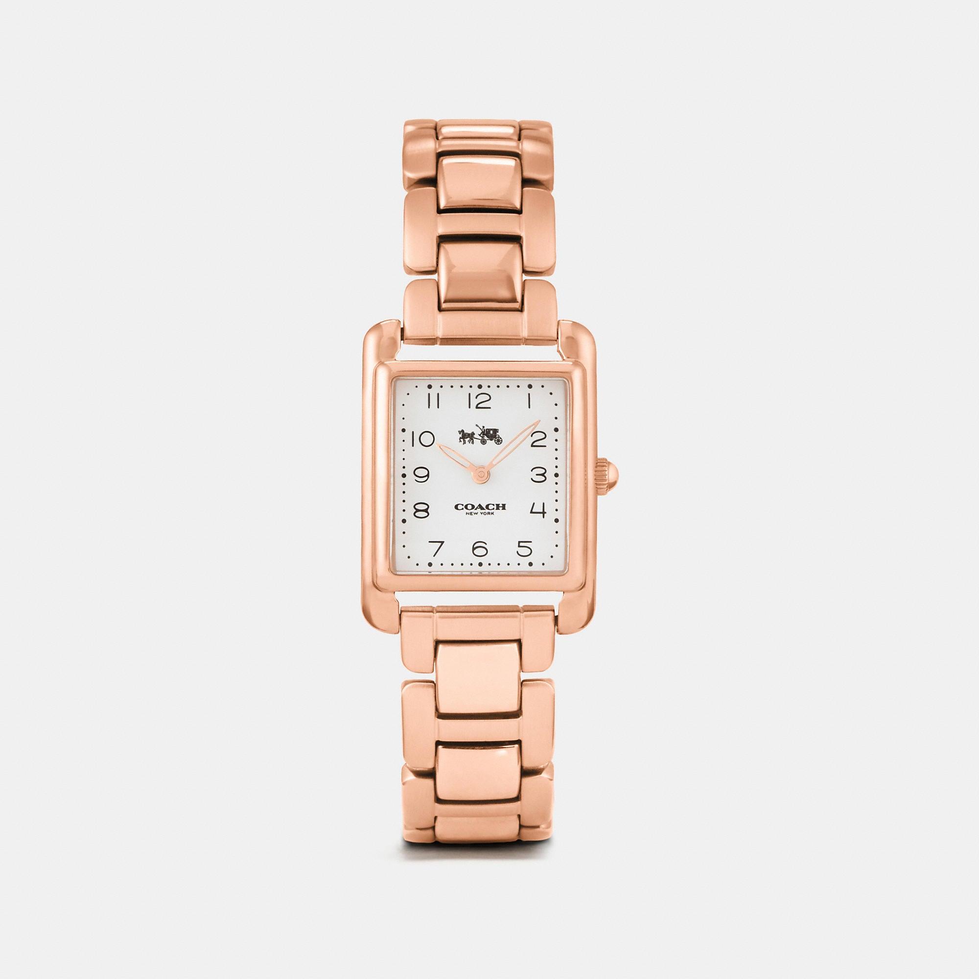 Coach Page Rose Gold Tone Bracelet Watch