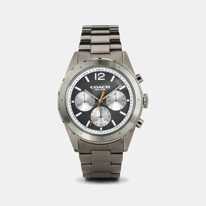 coach men s watches sullivan sport ionized plated bracelet watch