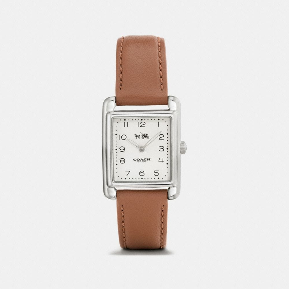 Page Stainless Steel Leather Strap Watch
