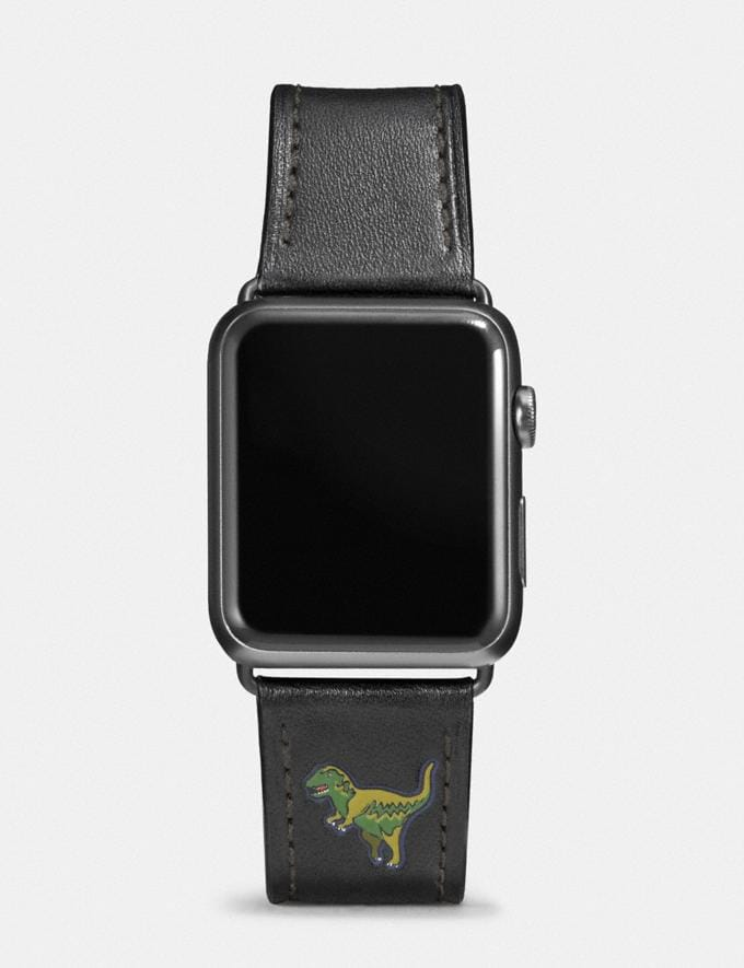 Coach Apple Watch® Strap With Rexy Black Women Accessories Watches