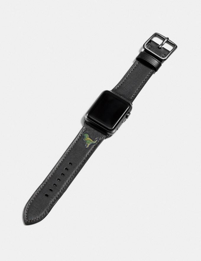 Coach Apple Watch® Strap With Rexy Black  Alternate View 1