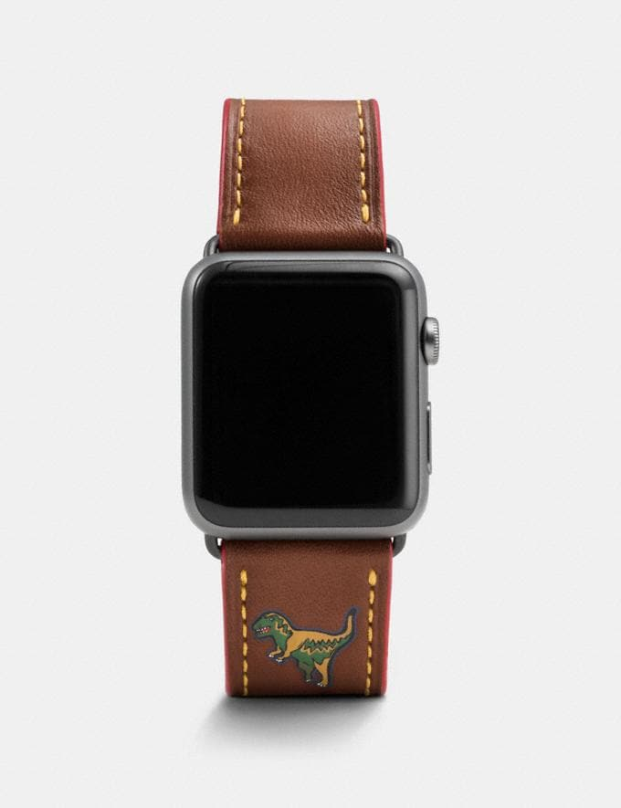 Coach Apple Watch® Strap With Rexy Dark Saddle Men Edits Your Life, Your Coach