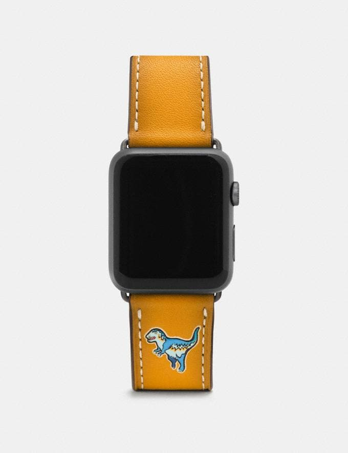 Coach Apple Watch® Strap With Rexy Goldenrod Women Accessories Watches