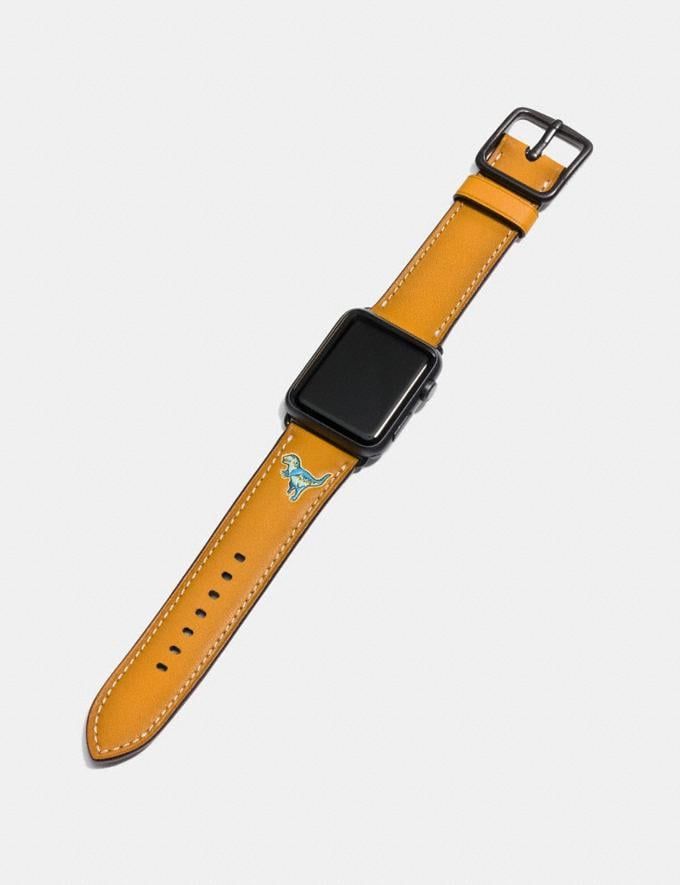 Coach Apple Watch® Strap With Rexy Goldenrod Women Accessories Watches Alternate View 1