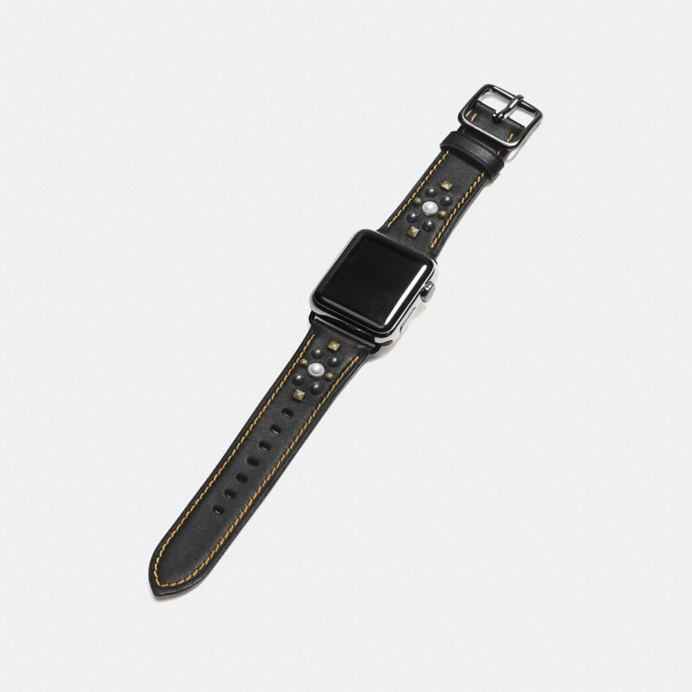 Apple Watch® Studs Leather Watch Strap - Alternate View A1