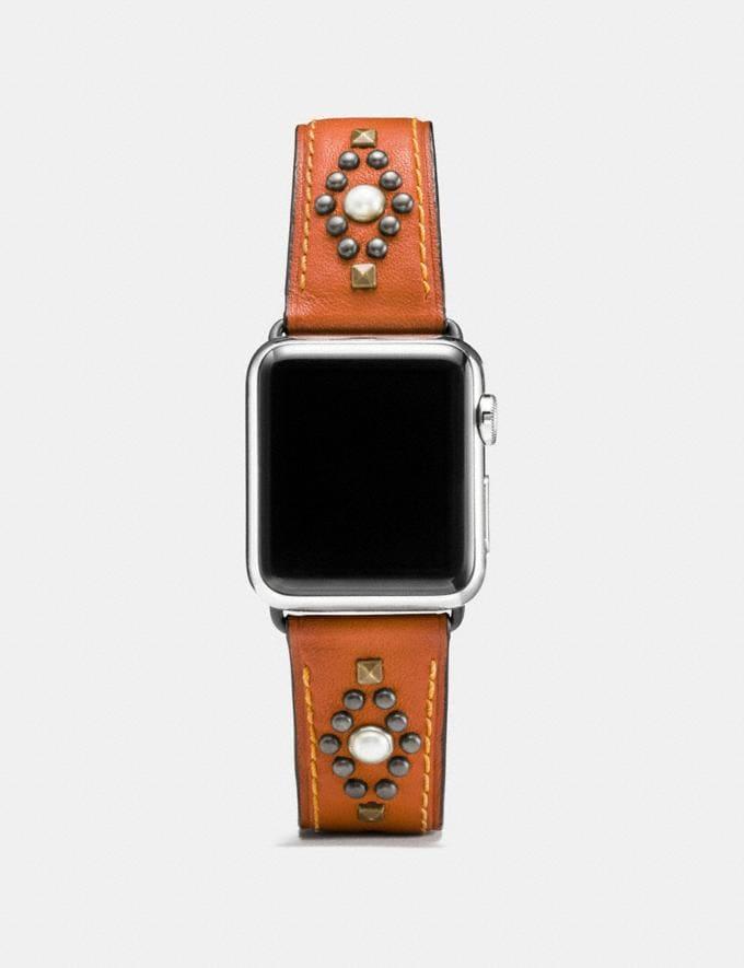 Coach Apple Watch® Lederarmband Mit Nieten Black Damen Accessoires Uhren