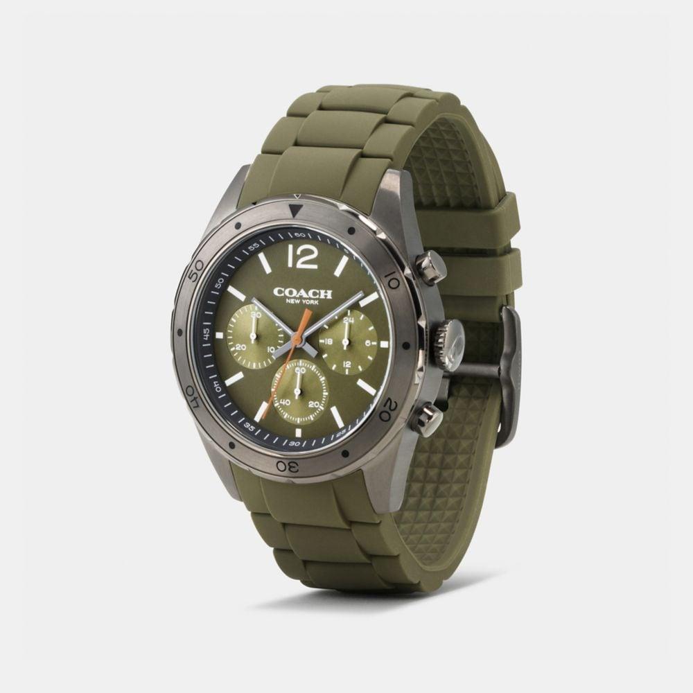 Sullivan Sport Ionized Plated Rubber Strap Watch - Alternate View A1