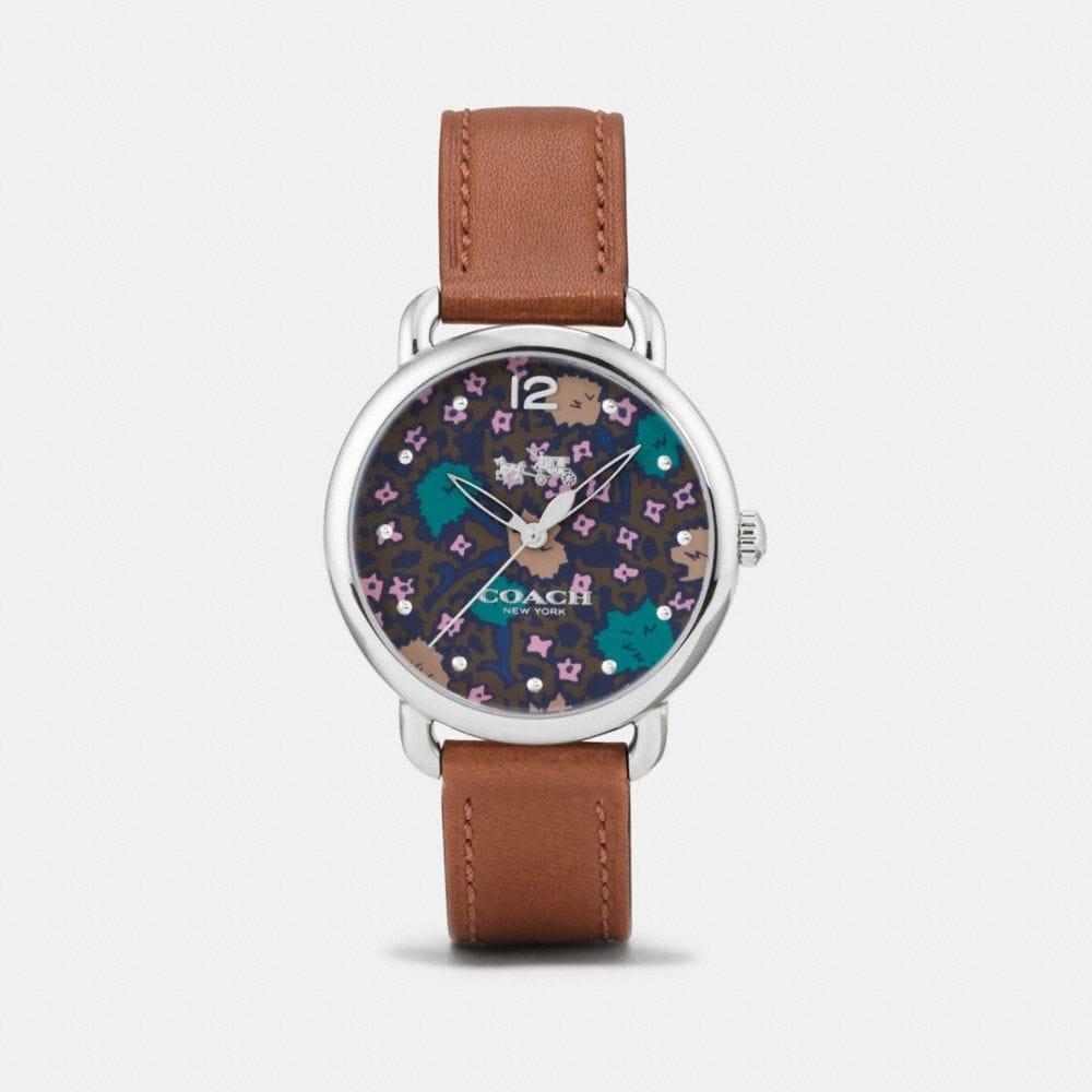 DELANCEY WATCH WITH FLORAL DIAL, 36MM