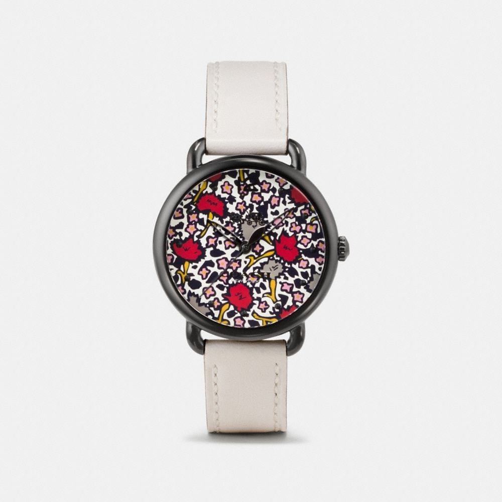 Coach Delancey Watch With Floral Dial