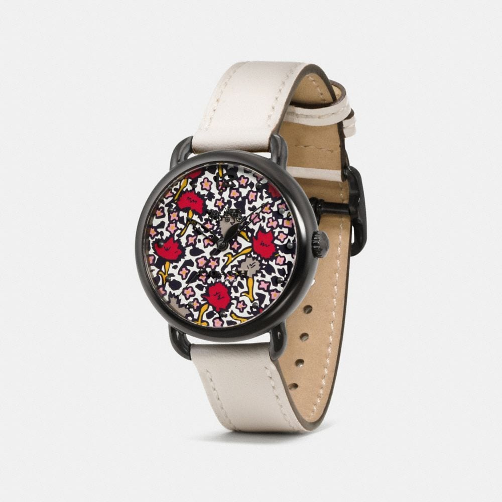 Coach Delancey Watch With Floral Dial, 36mm Alternate View 1
