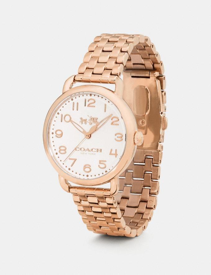 Coach Delancey Watch, 36mm Rose Gold Women Accessories Watches Alternate View 1