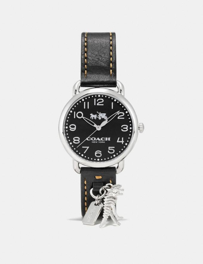 Coach Delancey Watch With Rexy Charm, 36mm Black Women Accessories Watches