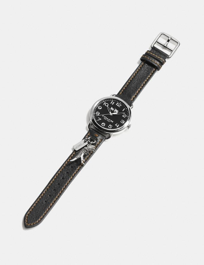 Coach Delancey Watch With Rexy Charm, 36mm Black Women Accessories Watches Alternate View 1