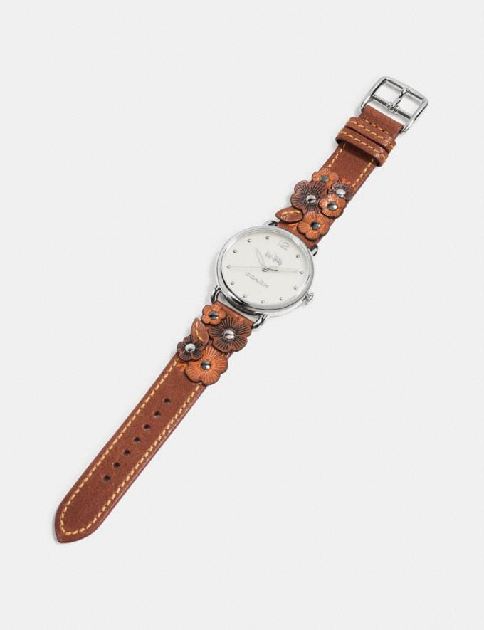 Coach Delancey Watch With Floral Applique, 36mm Saddle Gifts null A World of Gifts Alternate View 1
