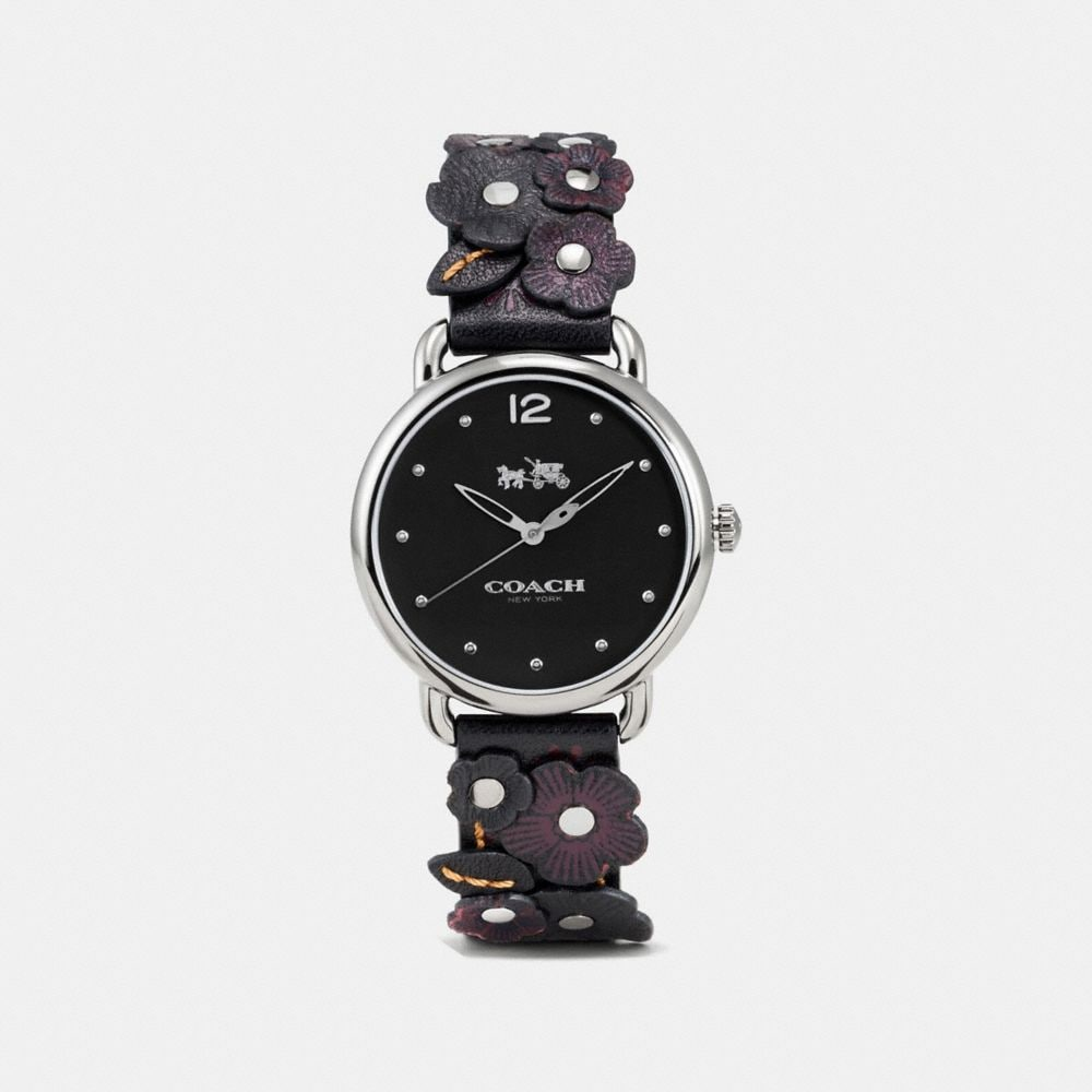 Coach Delancey Watch With Floral Applique