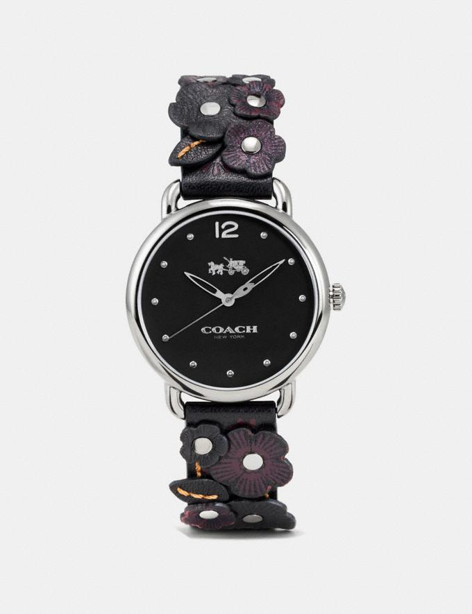 Coach Delancey Watch With Floral Applique, 36mm Black Women Accessories