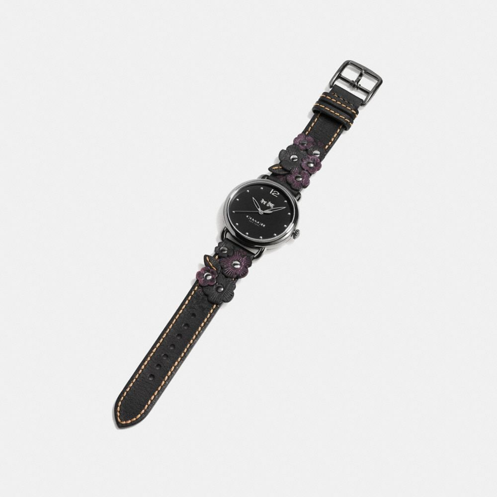 Coach Delancey Watch With Floral Applique Alternate View 1