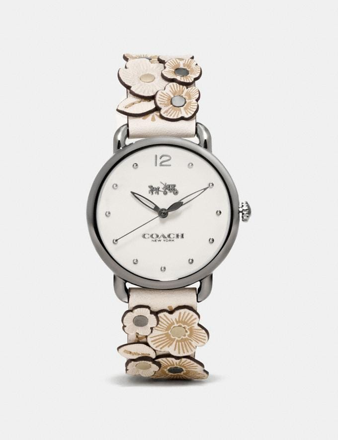 Coach Delancey Watch With Floral Applique, 36mm Chalk New Featured Floral Remix