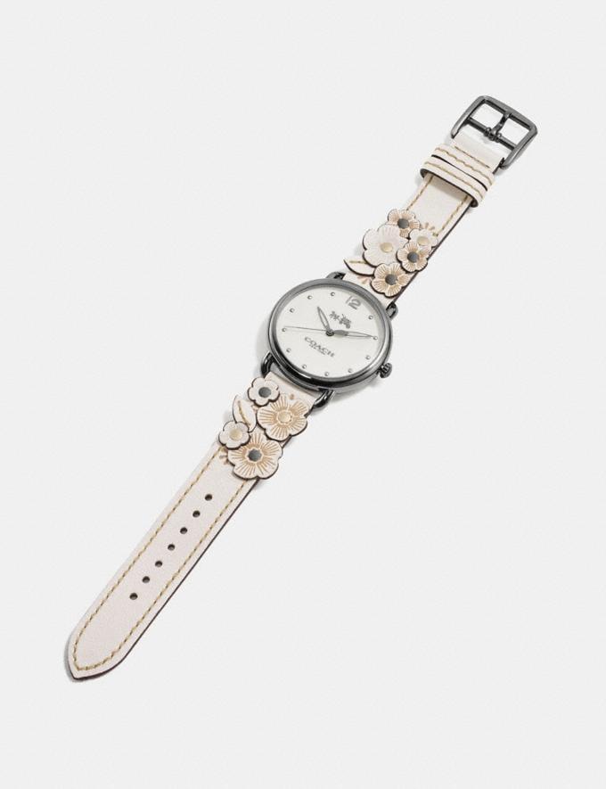 Coach Delancey Watch With Floral Applique, 36mm Chalk Women Accessories Watches Alternate View 1