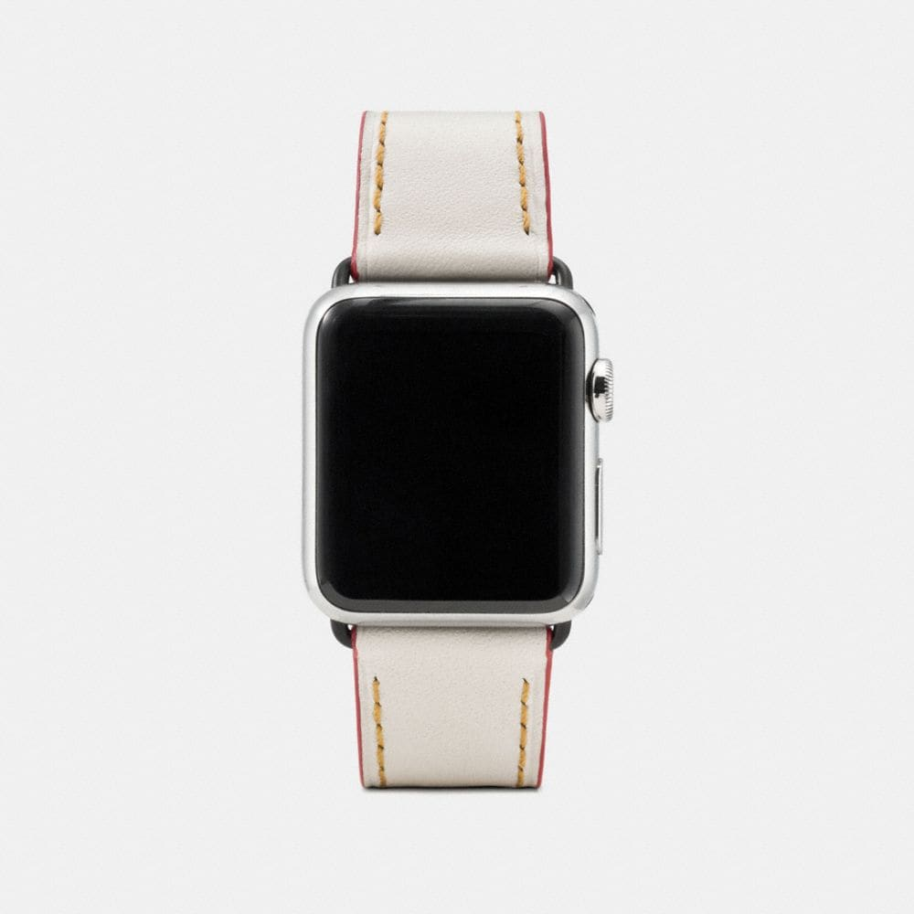 APPLE WATCH® FLORAL PRINTED LEATHER STRAP