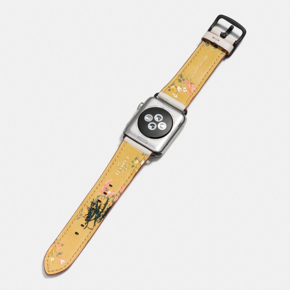 Coach Apple Watch® Strap With Floral Print Alternate View 2